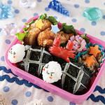 キャラ弁レシピ|カメさんおにぎりのお弁当!