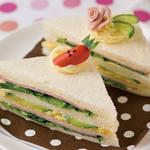 おもてなし・パーティーレシピ|ケーキ風サンドイッチ