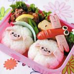 キャラ弁レシピ|ひつじおにぎりのお弁当!