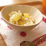 アレルギー対策レシピ|豆乳クリームチーズとキウイのアイス(卵なし/乳なし/小麦なし) \がんばるママ応援企画/