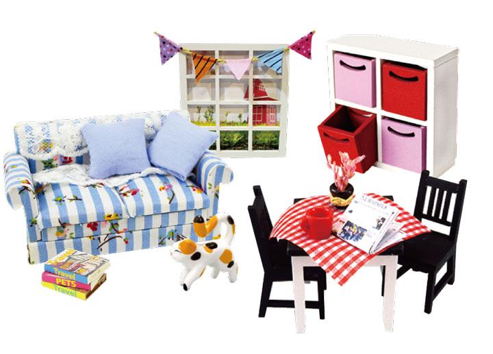 作って飾って楽しい! かわいい組み立てミニ家具