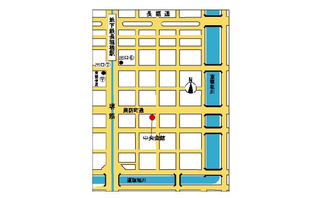 中央会館 位置図