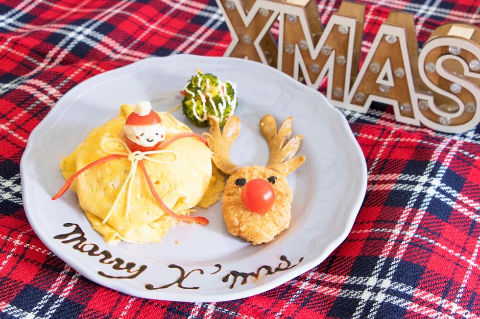 クリスマスキッズプレート~オムライス&トナカイコロッケ~