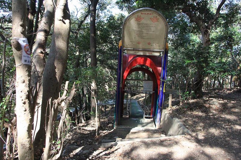 ローラースベリ台の入り口