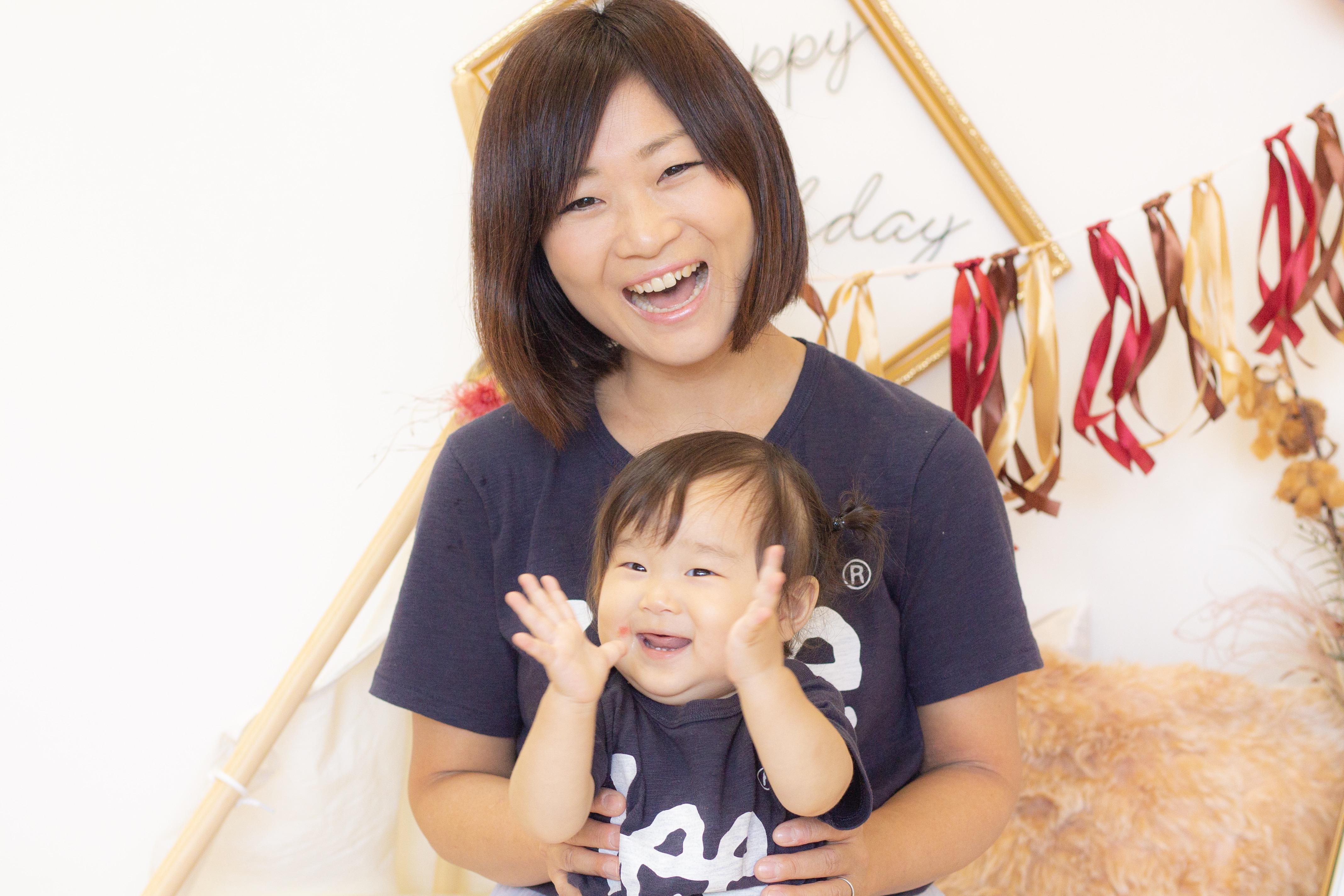 あいママ&あかりちゃん