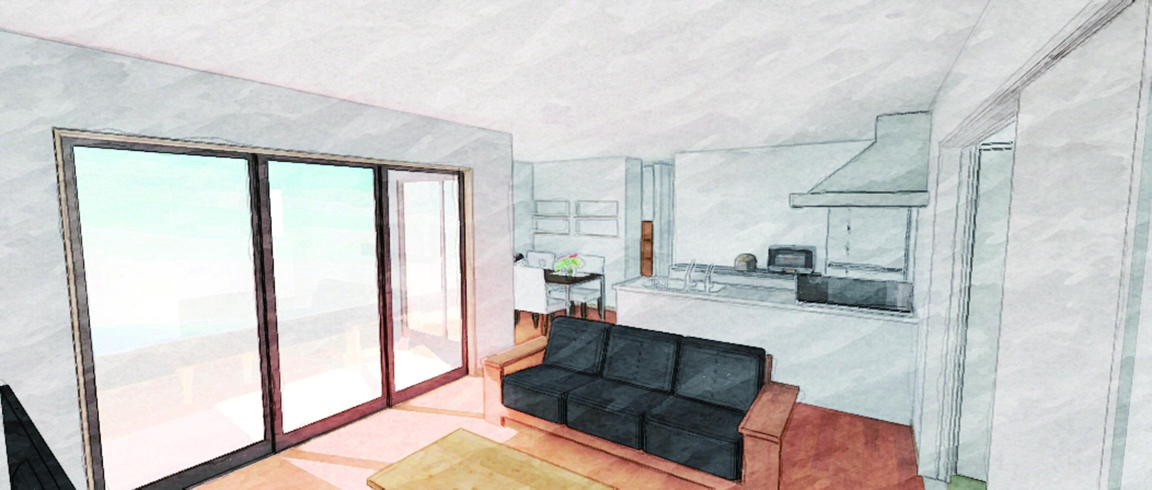Modern × One-story House In Fukutsu