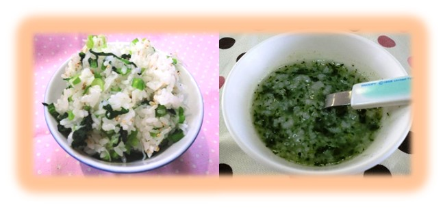 ご紹介する『アマメシ』は、「なっぱごはん」と「小松菜のおかゆ」