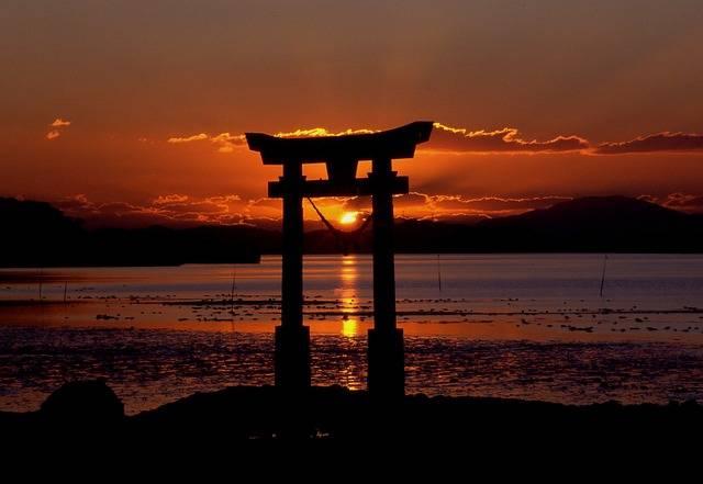 Sunset Shrine Sea · Free photo on Pixabay (58450)